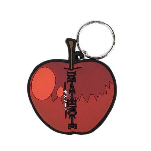 Death Note Red Apple Keyring Rubber Keychain Fob